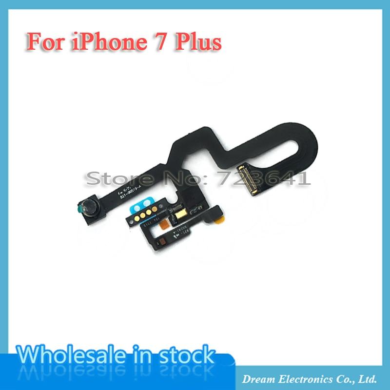 imágenes para MXHOBIC 10 unids/lote Cámara Frontal Del Módulo de Proximidad Sensor de Luz Cable Flexible para el iphone 7 Más Piezas de Recambio Envío Gratis