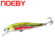 NOEBY Minnow Fishing Lure 70mm 5.5g Artificial Hard Plastic Bait Suspending 0-0.6m 3D Eyes Long Casting Wobblers
