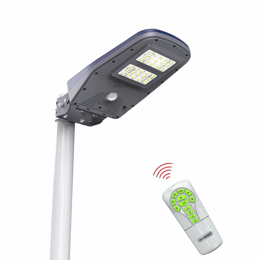 Uppdaterad Super Bright 30 LEDs Solar Street Light LED på väggen Vattentät Solar Lamp Sensor Säkerhet Justerbar Spot Lighting