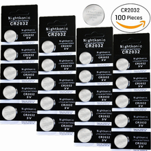цена на 100 PCS/LOT CR2032 Button Batteries BR2032 DL2032 ECR2032 Cell Coin Lithium Battery 3V CR 2032 For Watch Electronic Toy Remote