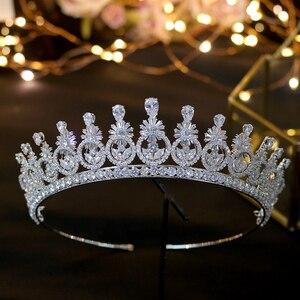 Image 2 - ASNORA ใหม่ Crown Headwear กับ Zincon แฟชั่น Vintage เครื่องประดับทรงผมเจ้าสาว Party Crown