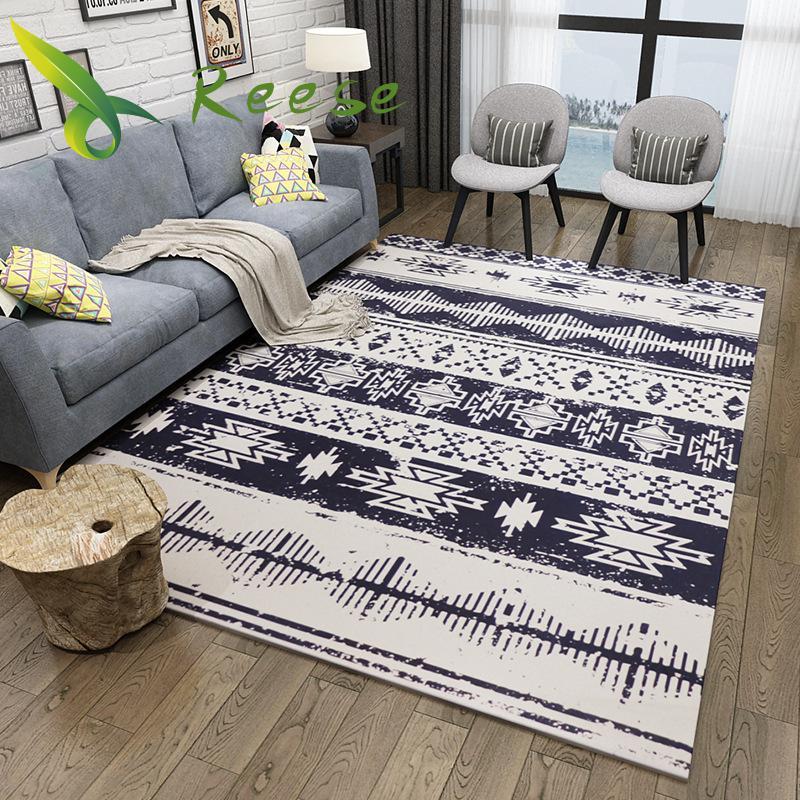Geometric Living Room Nordic Design Modern Art Carpets Washable