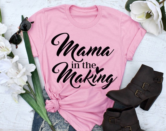 0bf88f64fe8f7 Mama in the Making t-shirt funny slogan women fashion grunge tumblr cotton tee  Pregnancy
