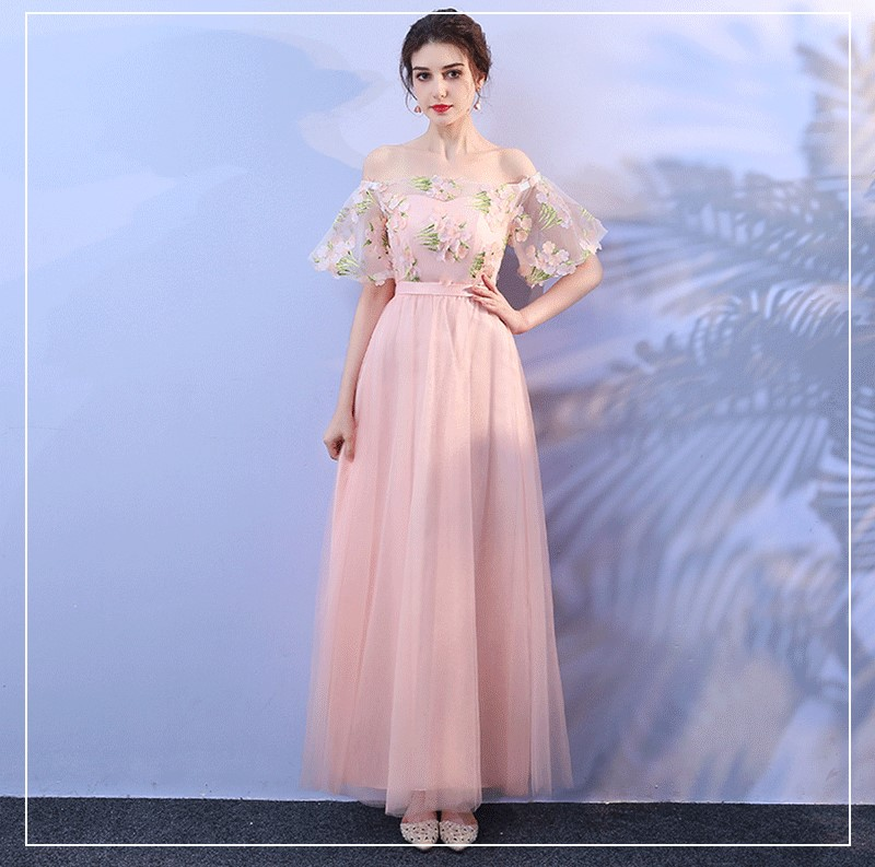 Pink Colour Empire Long Dress Bridesmaid Dresses Wedding Party Dresses For Sexy Women Bridesmaid Dresses Aliexpress