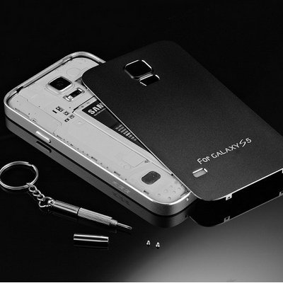 reputable site 30961 e5ee5 US $21.65 |S5 Gold Matting Surface Battery Housing Cover Aluminum Case for  Samsung Galaxy S5 SV i9600 Luxury Phone Bag Metal With Screw on ...