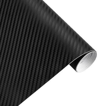 3D Carbon Fiber Vinyl Car Sticker Wrap Sheet Roll Film Paper Waterproof Motorcycle Car Sticker Decals Car Interior Accessories image