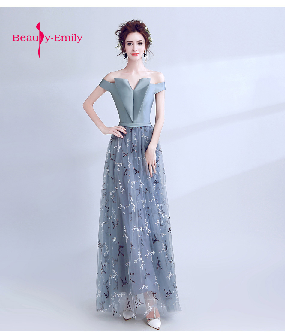 Delicate heart shape off shoulder Prom Gown fashion grey formal ...