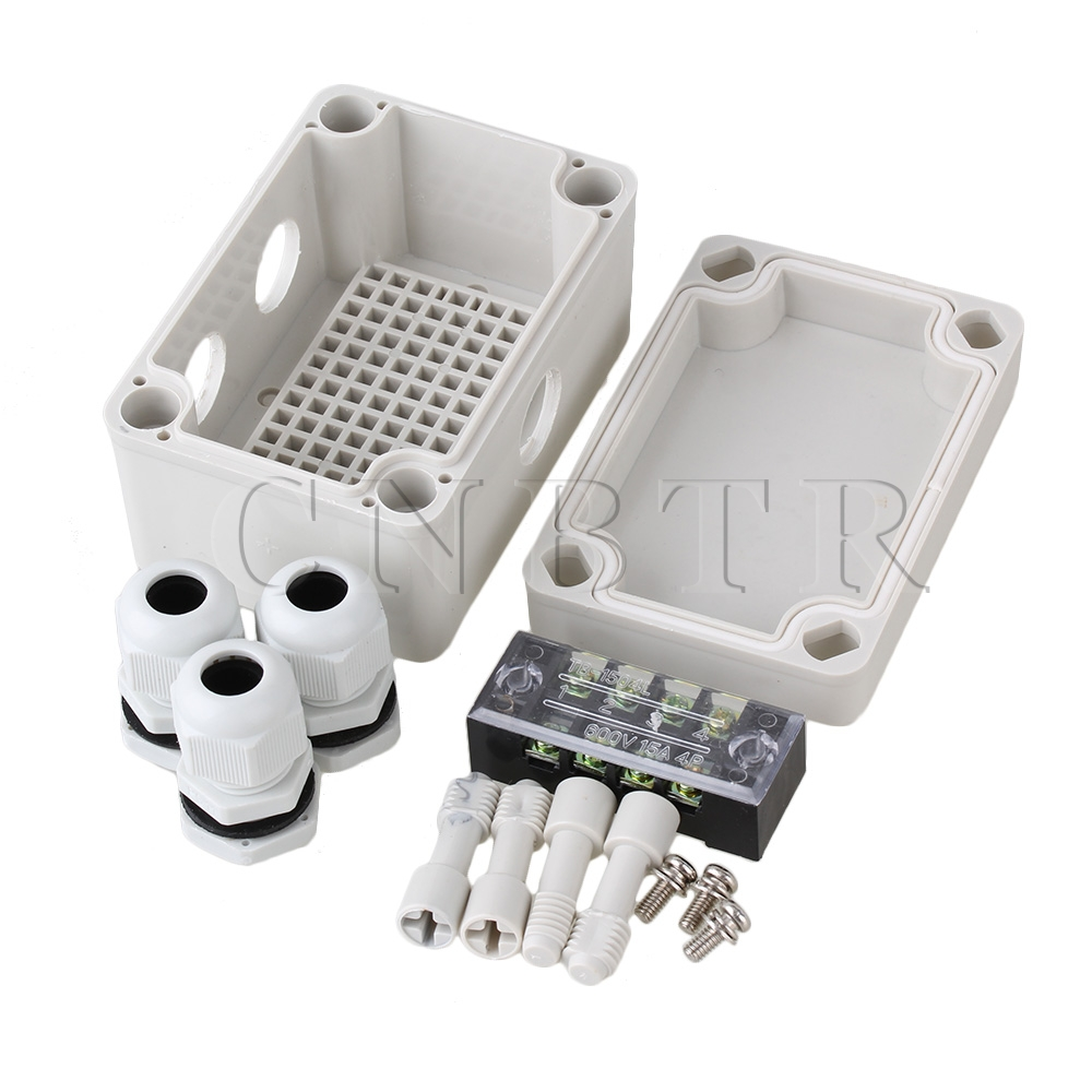 CNBTR Plastic Waterproof Electric Project Junction Box with 4 Position Terminals  цены