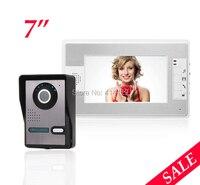 Home 7 Inch LCD Video Doorphone Ring Intercom Weatherproof Night Vision Camera