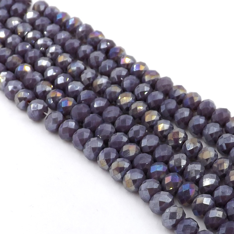 NEW ARRIVAL 70PCS X 8MM FACETED RONDELLE CRYSTAL GLASS BEADS PICK COLOURS