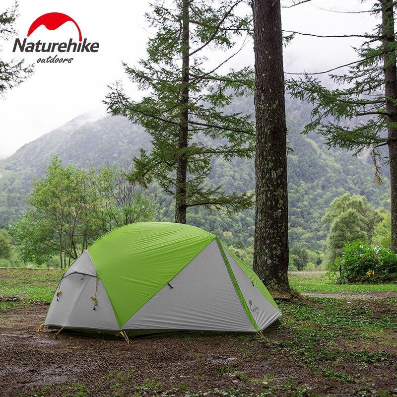 Naturehike Mongar 2018 Mise À Jour Version 2 Personne Camping Tente Ultra-Léger 20D Silicone Étanche 2 Homme Randonnée En Plein Air Tente Dôme