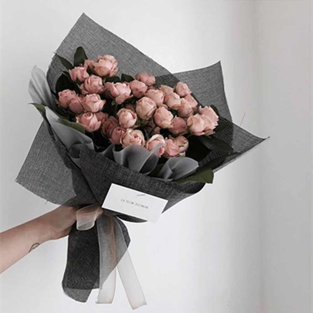 Korean Style Linen Flower Wrapping Paper Flowers Bouquet