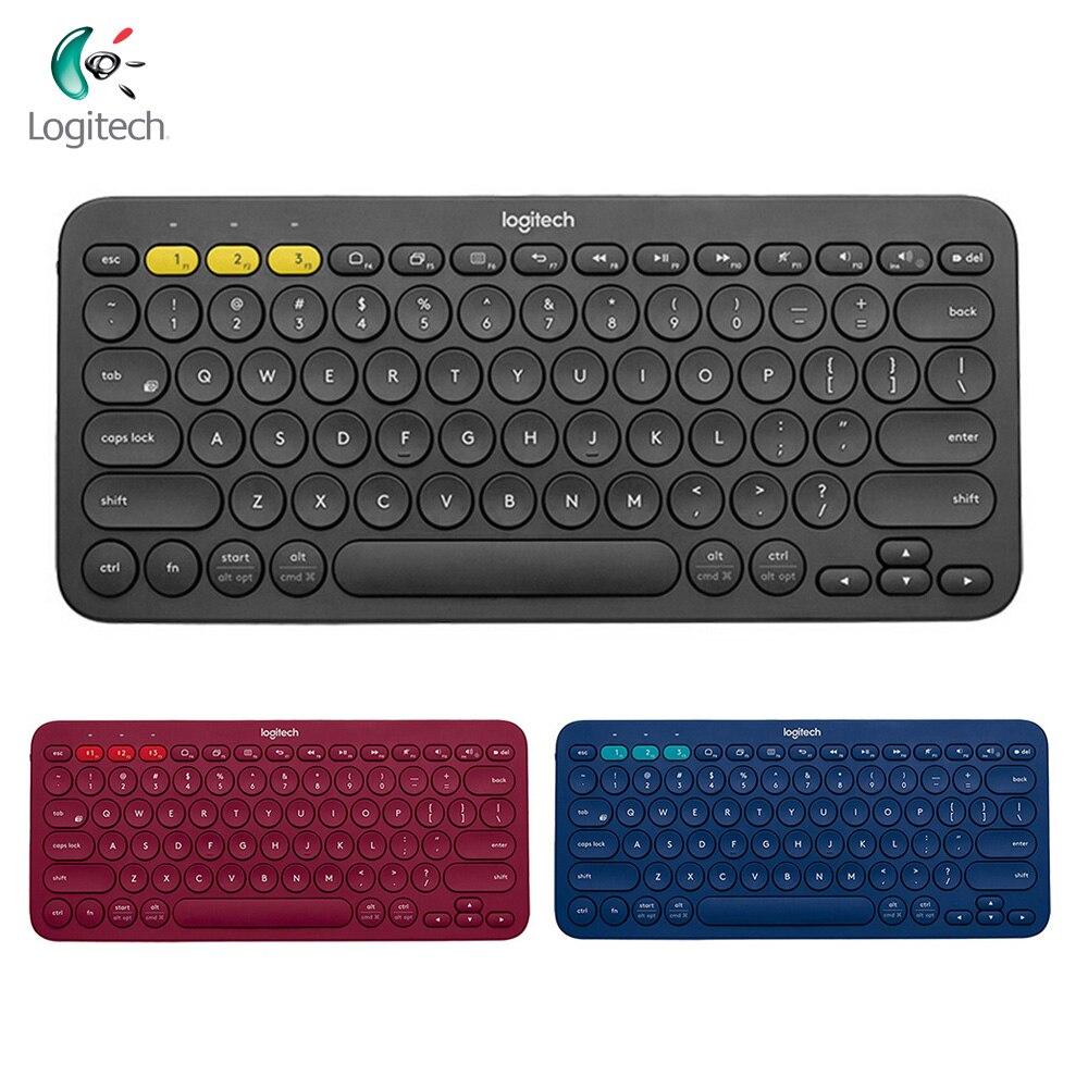 Logitech K380 multi-dispositif Bluetooth clavier Ultra mince Mini muet PC ordinateur portable tablette téléphone clavier pour Windows MacOS Android iOS