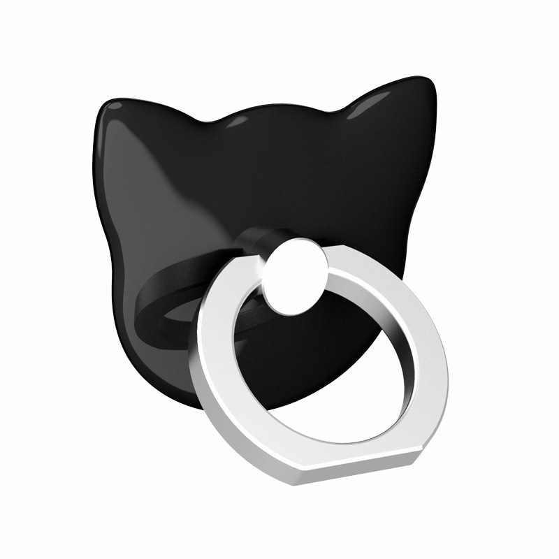 عالمي جديد فاخر الكرتون القط رئيس 360 درجة البنصر الهاتف المحمول حامل هاتف ذكي حامل لجميع الهواتف