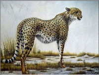 100 Hand Painted Handicrafts Animal Oil Painting A Leopard