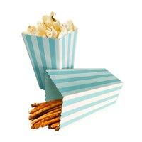 12 stuks Kleurrijke Chevron Papier Popcorn Dozen Bruiloft Tafel Decoratie Baby Shower Verjaardagsfeestje Decoraties Event Feestartikelen 3