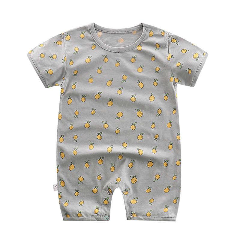 Летняя одежда с рисунком для маленьких мальчиков; комбинезон из хлопка с короткими рукавами; комбинезон для ребенка дитя; Хлопковая пижама; Одежда для новорожденных