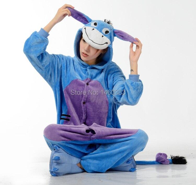 3095e9d667 2015 HOT Unisex Adult Men Women Cute Onesie Pajamas Onesie Cosplay Costume  Cartoon Animal Onesie Sleepwear Eeyore Donkey-in Pajama Sets from Underwear  ...