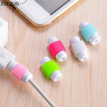 ZUCZUG 10PC free shipping silicone digital cable protector Cord Protecotor Protective sleeves cable winder cover for