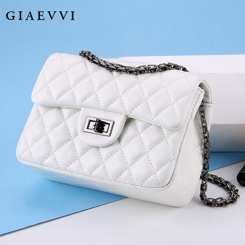 GIAEVVI Women Genuine Leather Handbag Luxury Chain Bag Small Shoulder Bags Ladies Crossbody bags for women Designer Handbags giaevvi ladies luxury handbags women messenger bags fashion shoulder bag genuine leather handbag cross body designer handbags