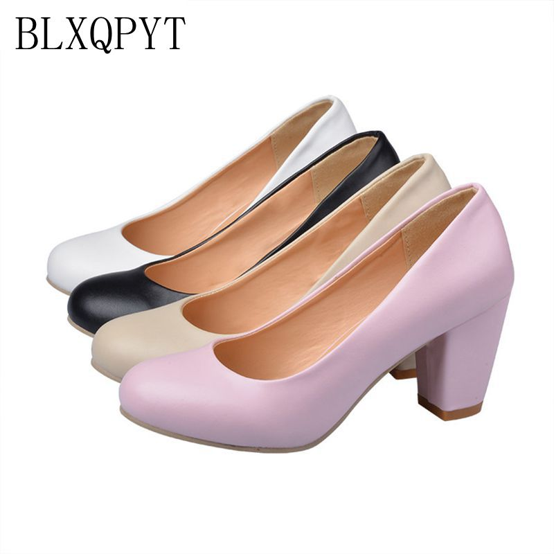 2017 Sapato Feminino Zapatos Mujer Tacon Big Size 31-47 Colour New Spring Autumn Women's Pumps Women Shoes High Heels Pu 222-1