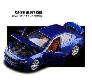 Image 5 - גבוהה סימולציה מעולה Diecasts & צעצוע כלי רכב: caipo רכב סטיילינג מזראטי Ghibli 1:32 סגסוגת רכב דגם עם צלילי אור