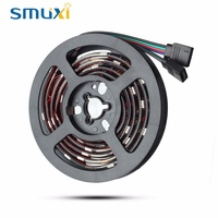 Smuxi 2X50CM 30 LED 5050 SMD RGB LED Strip Light 12V DC With 17 Key RF