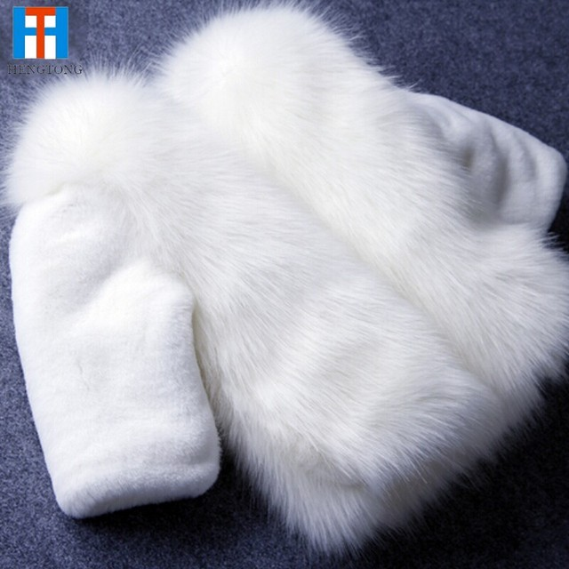 Moda Infantil roupas de inverno casaco de pele para as meninas roupas de bebê parka elegante roupas para outerwear menina meninas da pele do falso luxo