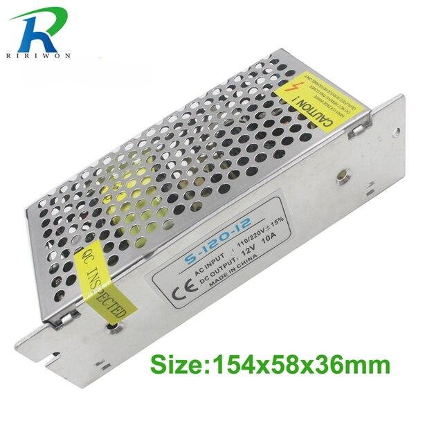RiRi Won 2A 3A 5A 10A 12 V verlichting transformator Kleine Volume Single 12 volt Output stroomvoorziening voor LED Strip licht