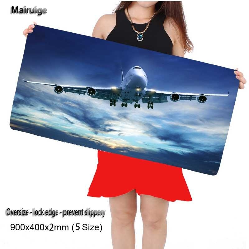Mairuige самолет в небе 900*400 мм Большой животного Мышь Pad Grande Клавиатуры Коврики для Лига Легенд CS Go для игры