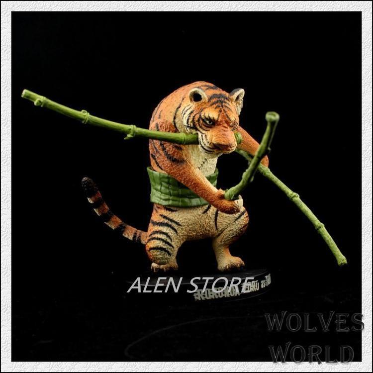 Alen Action Figure ONE PIECE ONEPIECE tiger Roronoa Zoro PVC 18cm zoo op Man gift dolls Cartoon Collectible Model Anime