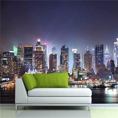 Large Mural Wallpaper Manhattan New York Tv Background Wall Living Room Sofa Bedroom City