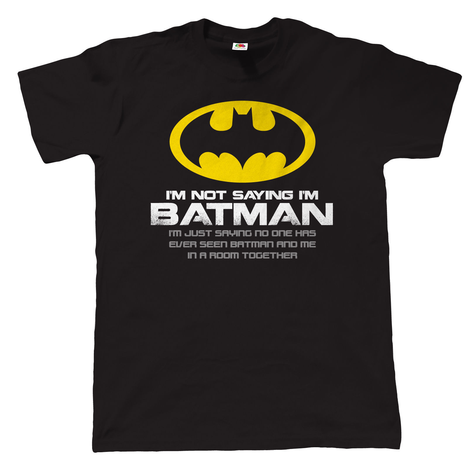 Im Not Saying Im Batman, Mens Funny T Shirt, Gift for Dad Fathers Day New Arrival Male Tees Casual Boy T-Shirt Tops Discounts