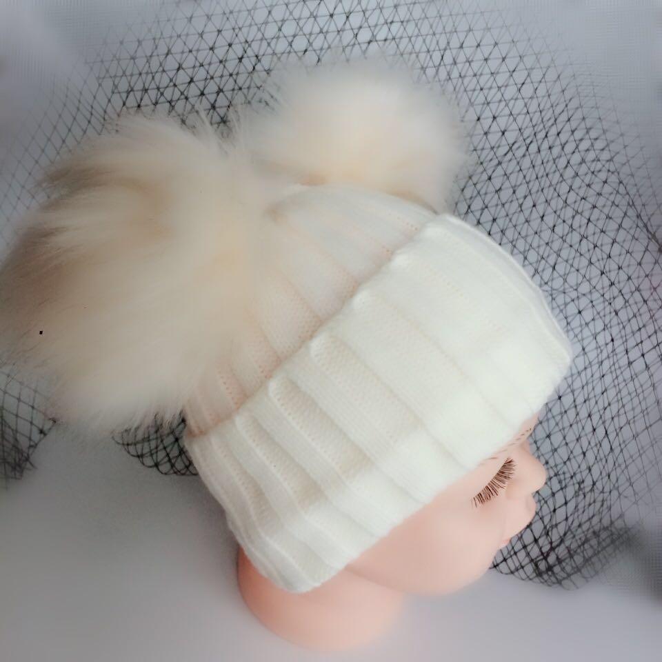 Toddler Girl Double Pom Pom Hat bc9f1801d