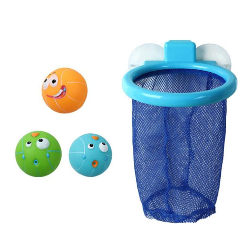 Funny Small Basketball Shooting Bath Toys Cute Interactive Ball Absorb Water Play Kids Gifts Bathtub Spraying Toys for Children
