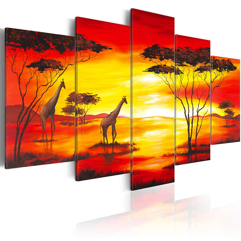 5 pieces/set Modern flower series Picture Print Painting On Canvas Wall Art Home Decor Living Room Canvas Art PJMT-B (18)