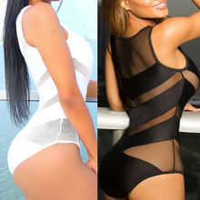 2019 Sexy One Piece Swimsuit Summer See Through Beachwear Mesh Bathing BodySuit Swimwear Bathing Suit super sexy splicing transparent mesh one piece swimsuit summer sheer monokini see through bathing suit swimwear bodysuit bikini