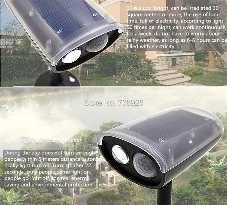 movimento pir luzes solares ao ar livre