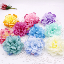 50pcs/lot High Quality Peony Flower Head Silk Artificial Wedding Decor DIY Garland Craft romantic flower wall