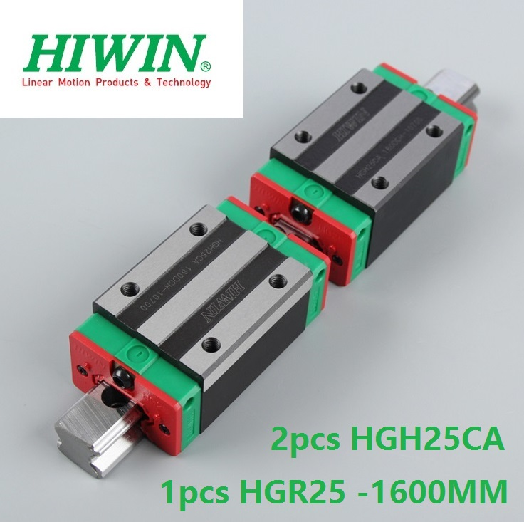 1pcs 100% original Hiwin linear guide linear rail HGR25 -L 1600mm + 2pcs HGH25CA linear narrow block for cnc router hiwin taiwan made 2pcs hgr25 l 600 mm linear guide rail with 4pcs hgh25ca or hgw25ca narrow sliding block cnc part