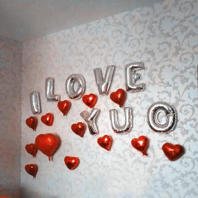 16 Zoll Schöne Hochzeitstag Feier Der Valentinstag Geständnis Brief Ballon  Hochzeit Zimmer