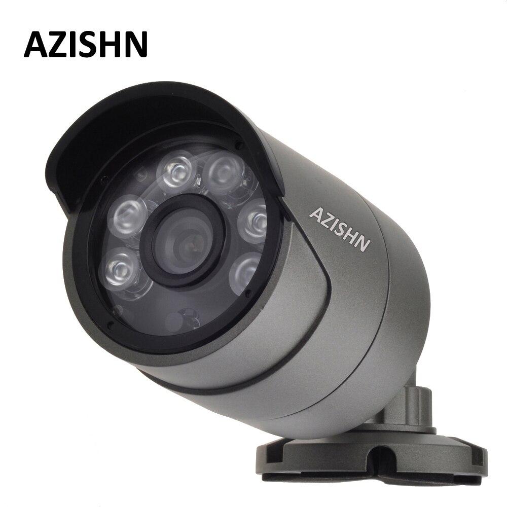 Surveillance ONVIF H.265/H.264 4MP Caméra IP Extérieur Étanche IP66 métal CCTV Caméra Hi3516D + 1/3 OV4689 6 pcs LED ARRAY