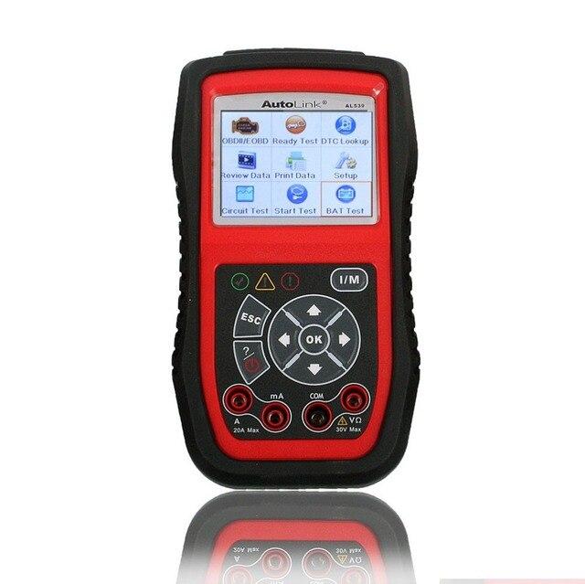 Последним в Исходном Autel Автоссылка AL539B OBDII Code Reader & Электрические Инструмент Тестирования AL539B Автомобильной Сканер бесплатный онлайн обновление