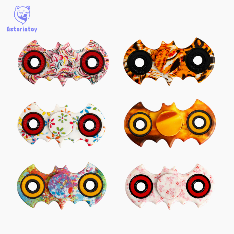T-Spinner Fidget Toy batmsan colour style abs EDC Hand Spinner For Autism and Rotation Time Long Anti Stress Toys