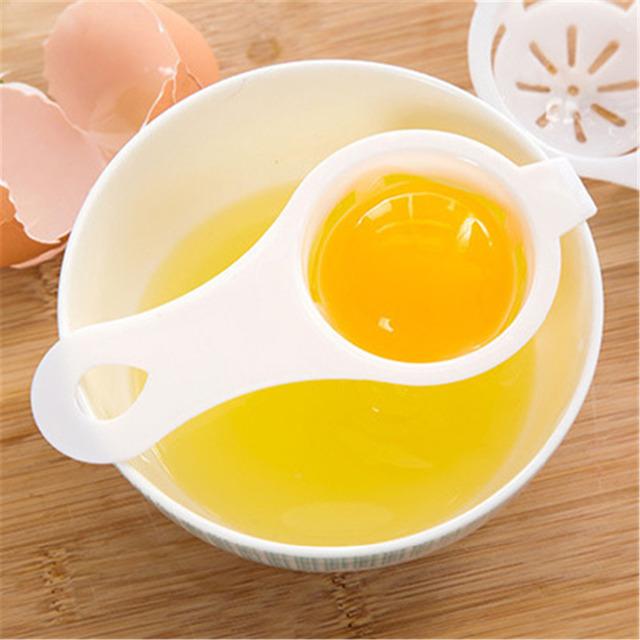 DoreenBeads Plastic Egg Dividers Egg Yolk Separator Safe Practical Hand Egg Tools Kicthen Cooking Gadgets 12.7×6.1cm 1 PC