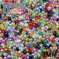 Alta calidad 3mm 200 unids AAA Forma Redonda de Lujo Austriaco cristales rondelles granos flojos de la bola de cristal pulsera de suministro de Joyería DIY
