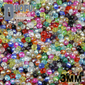 High quality 3mm 200pcs AAA Round Shape Upscale Austrian crystals beads loose rondelles glass ball supply bracelet Jewelry DIY