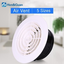 Hon&Guan 3~8 '' Round Air Vent ABS Louver White Grille Cover Adjustable Exhaust Vent Fit for Bathroom Office Kitchen Ventilation