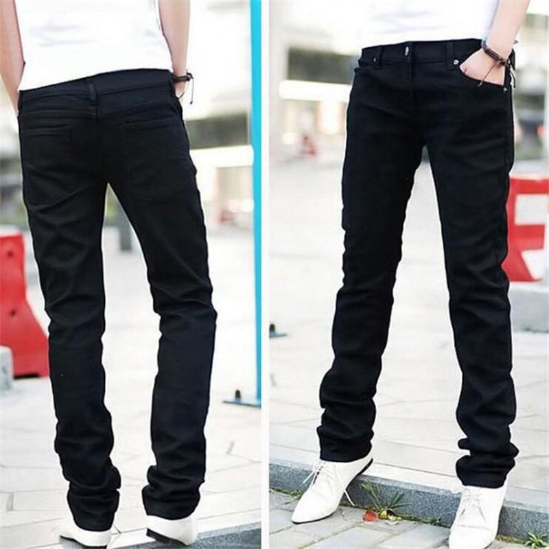 Man jeans new 2018 spring autumn Leisure Slim Wild Fashion men black jeans Feet Straight cowboy trousers Free Shipping