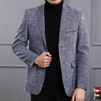 גברים אביב אופנה בלייזר עיצובים יחיד חזה שני פורמליות בלייזר לחצן חליפה בלייזר Slim fit Homme Bussiness z10